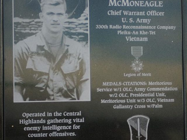 Joseph McMoneagle Veteran Memorial Plaque